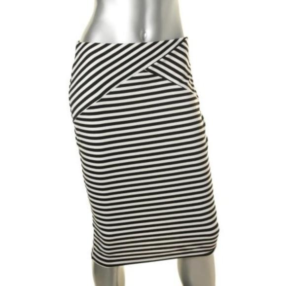 BCX Dresses & Skirts - NEW BCX BLACK AND WHITE STRIPED PENCIL SKIRT